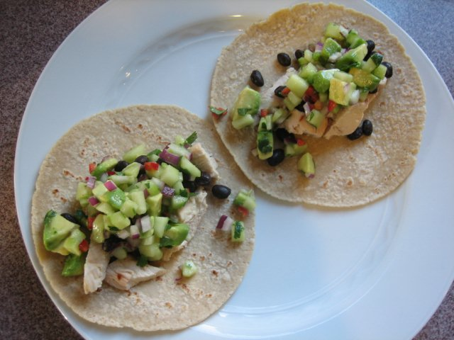 Chicken Gyros With Cucumber Salsa And Tsatsiki Recipe ...