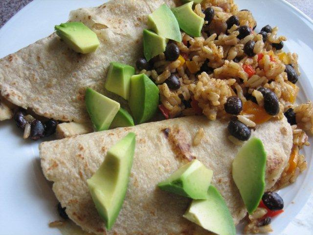 Baked chicken, rice, and black bean burritos - Kristine's Kitchen