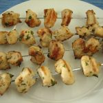 lemon garlic chicken kabob