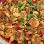 pasta with mini turkey meatballs