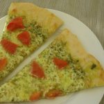 pesto pizza slices