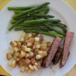 steak with veges