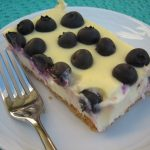 lemon blueberry cheesecake square