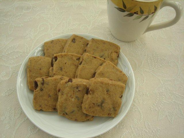 Espresso-Chocolate Shortbread Cookies | Kristine's Kitchen