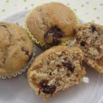 chocolate chip banana spice muffins