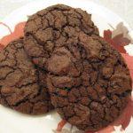 dark chocolate cookies with espresso