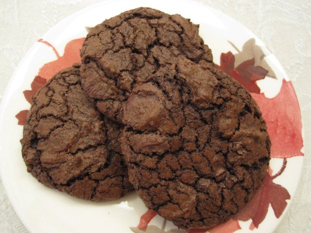 dark chocolate cookies with espresso