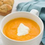 Carrot-Ginger Soup. My all-time favorite soup recipe!  6 ingredients, quick & easy! | Kristine's Kitchen