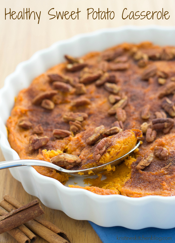 This Healthy Sweet Potato Casserole is filled with warm spices and ...