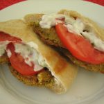 Baked Falafel Sandwiches with Cucumber-Yogurt Sauce