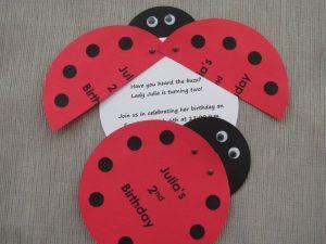 Ladybug Invitation 2