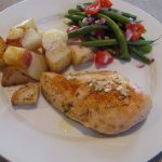 Pan Roasted Chicken Breasts with Potatoes