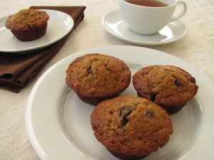 Banana espresso chocolate chip muffins 1