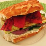 pan-grilled veggie sandwiches with arugula, balsamic, and ricotta~Kristine's Kitchen