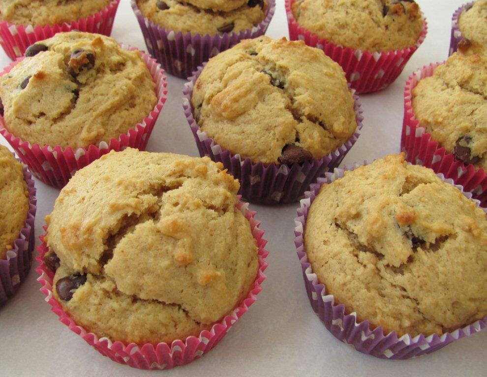 Peanut Butter Chocolate Chip Muffins | Kristine's Kitchen