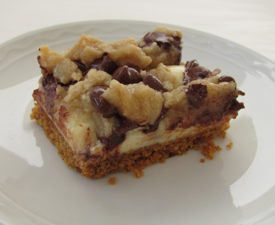 Chocolate Chip Cookie Dough Cheesecake Bars - Kristine's Kitchen