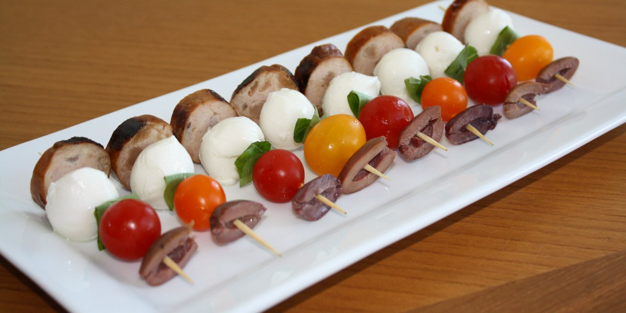 Italian sausage skewers kristine 39 s kitchen for Italian canape ideas