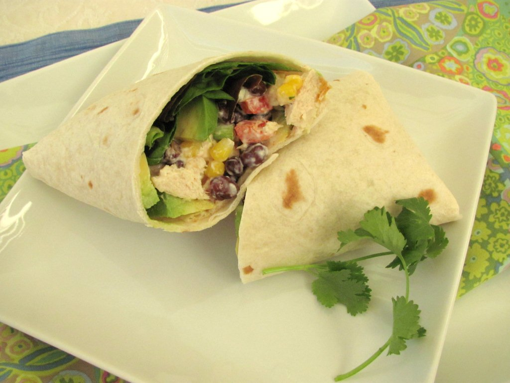 Santa Fe Chicken Salad Wraps - Kristine's Kitchen