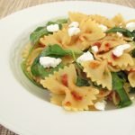 Sun-dried tomato, arugula, and goat cheese pasta_2626 (3)