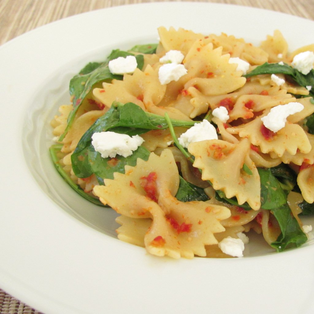 Pasta Salad With Goat Cheese And Arugula Recipe — Dishmaps