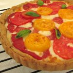 Tomato, Mozzarella & Basil Tart