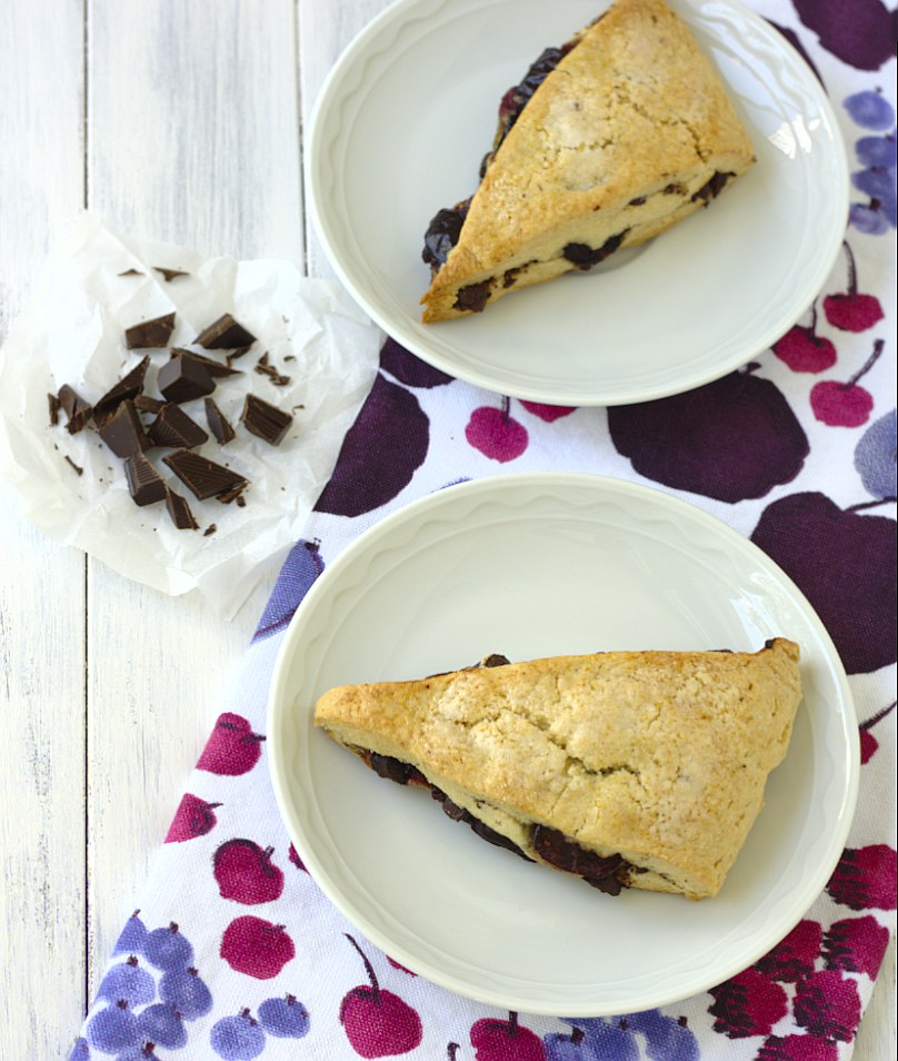 Grain-Free Dark Chocolate Cherry Scones Recipe — Dishmaps