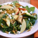 Harvest apple and spinach salad_1548