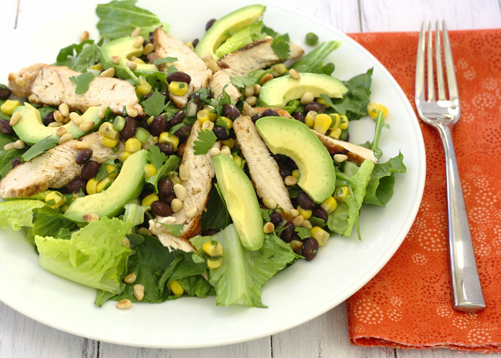 Southwestern Grilled Chicken Salad with Black Bean Salsa - Kristine's ...