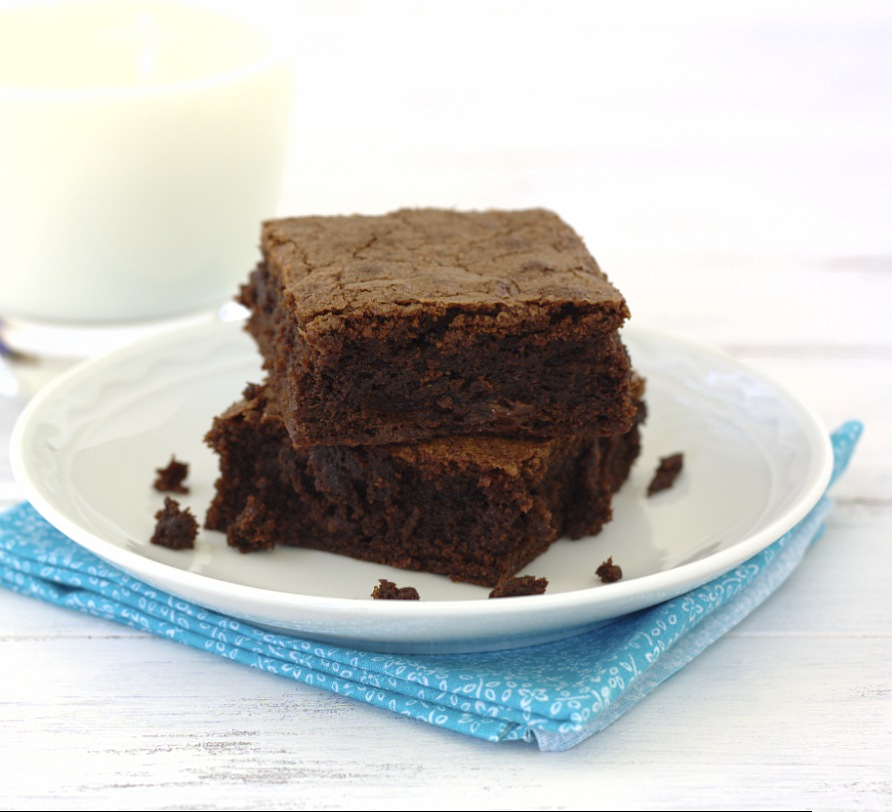 rich fudgy brownies