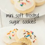 Mini Soft Frosted Sugar Cookies