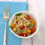 Orzo Pasta Salad with Tomatoes, Basil, & Mint