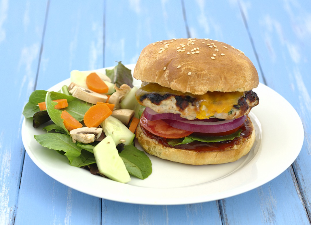 My favorite grilled turkey burgers, these are juicy and flavorful! | Kristine's Kitchen