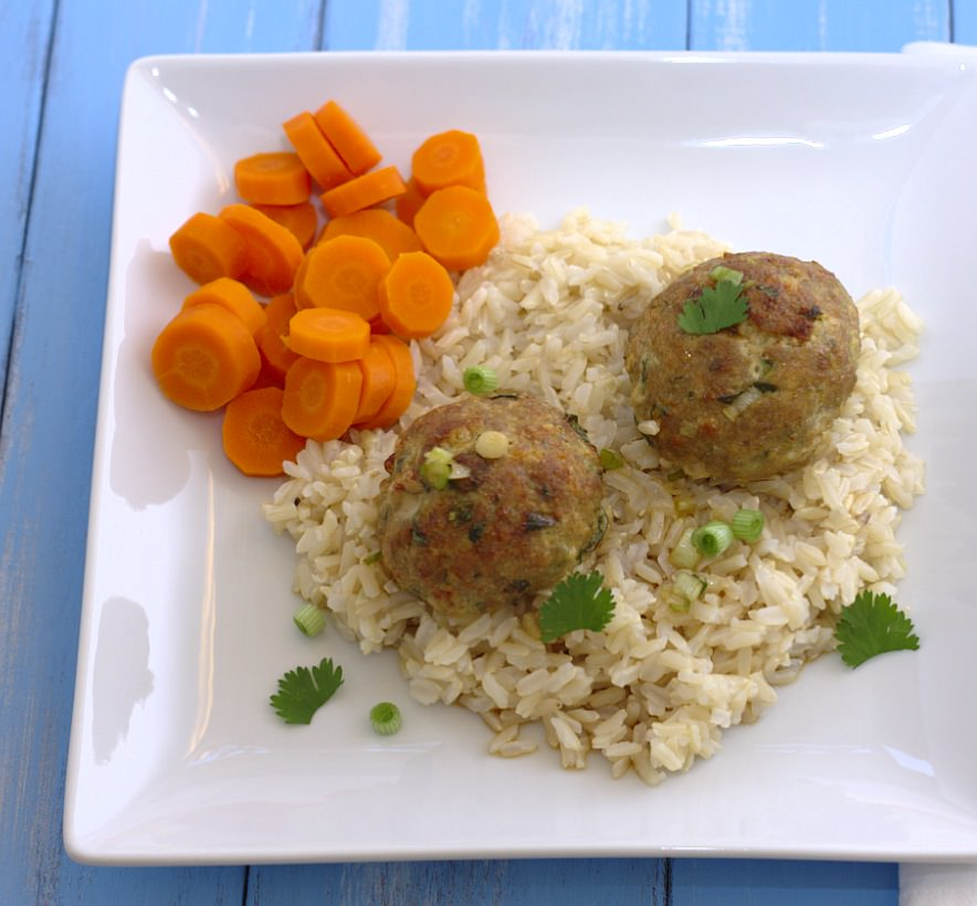 Asian Turkey Meatballs with Lime Sesame Dipping Sauce - Kristine's ...