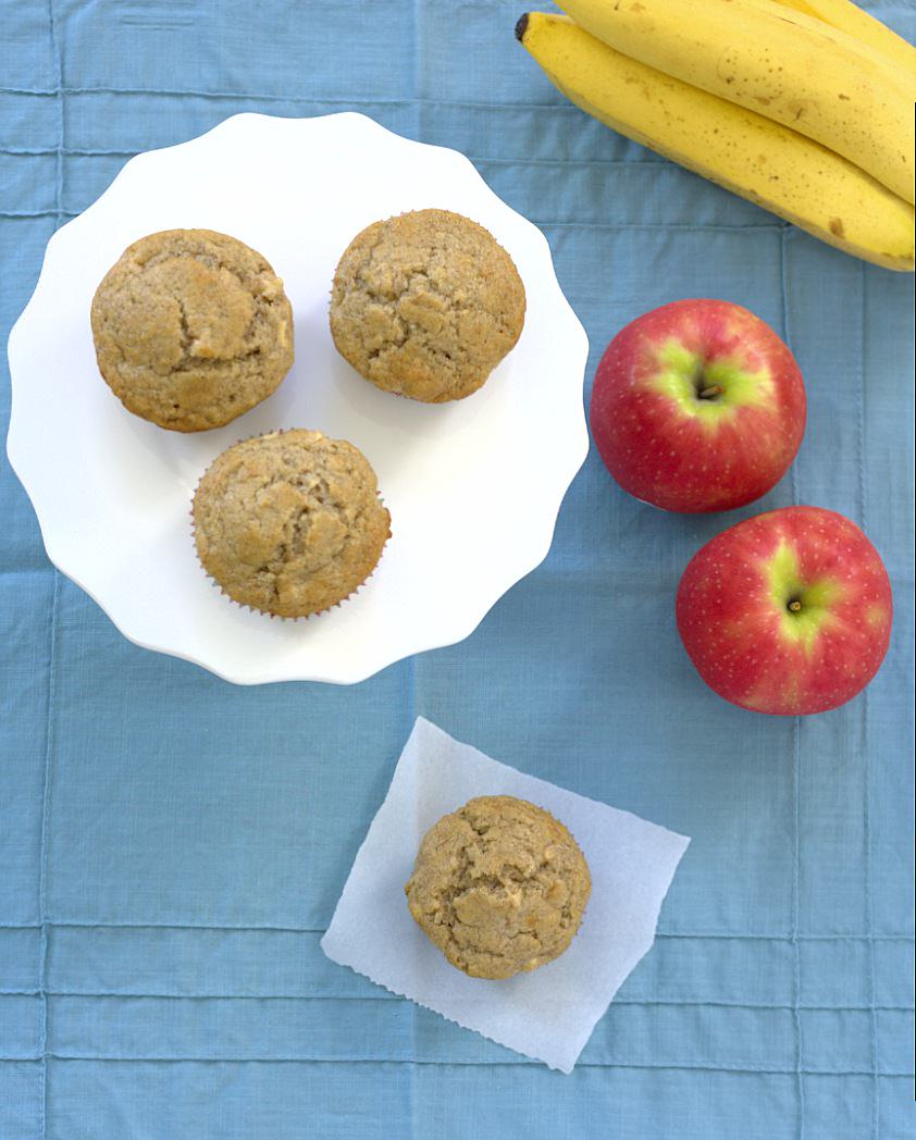 Banana-Apple Cinnamon Muffins - Kristine\'s Kitchen