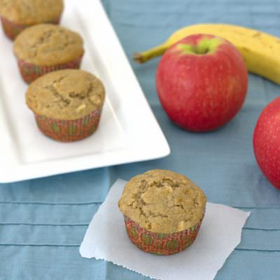 Banana-Apple Cinnamon Muffins