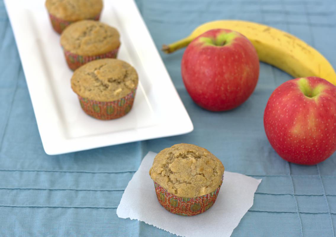 Banana-Apple Cinnamon Muffins | Kristine's Kitchen