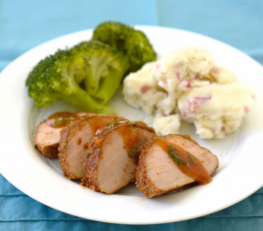 Chili-Rubbed Pork Tenderloin with Apricot Glaze - Kristine's Kitchen