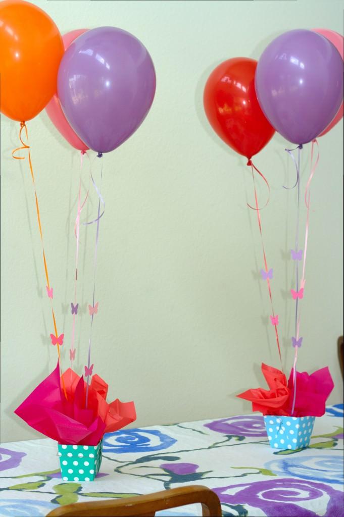 Butterfly Balloon Centerpieces