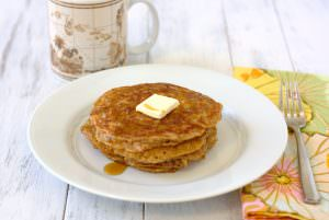 Whole Wheat Oatmeal Pancakes by Kristine's Kitchen