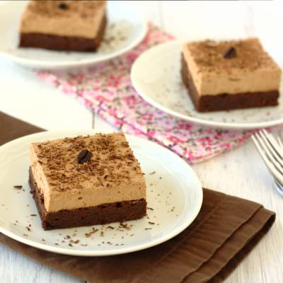Nutella Espresso Mousse Brownies