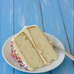 Fluffy Vanilla Cake with Whipped Vanilla Bean Frosting | Kristine's Kitchen