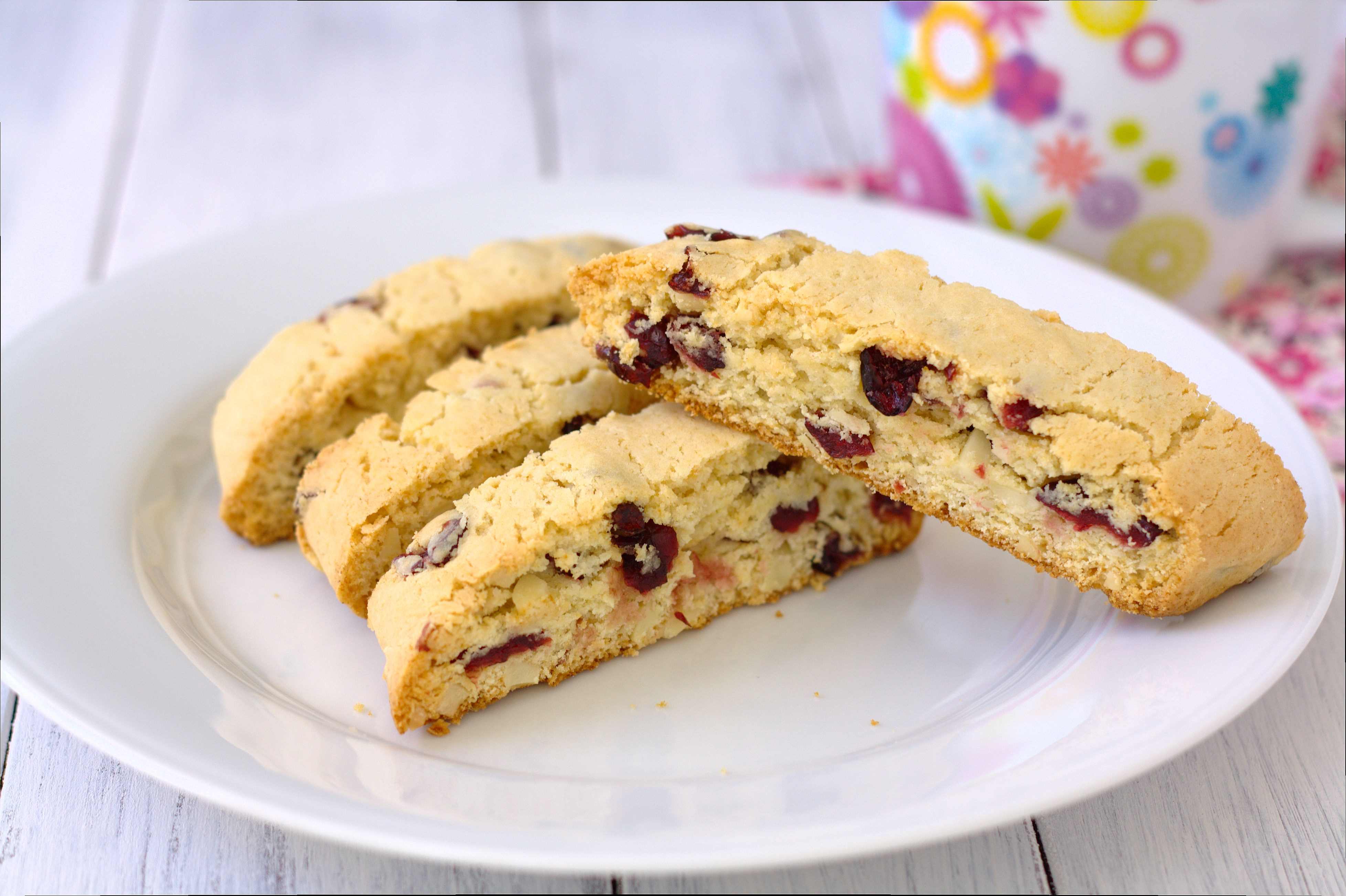 Cranberry Almond Biscotti by Kristine's Kitchen