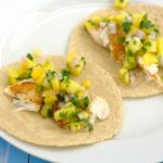 Fish Tacos with Pineapple-Peach Salsa~Kristine's Kitchen