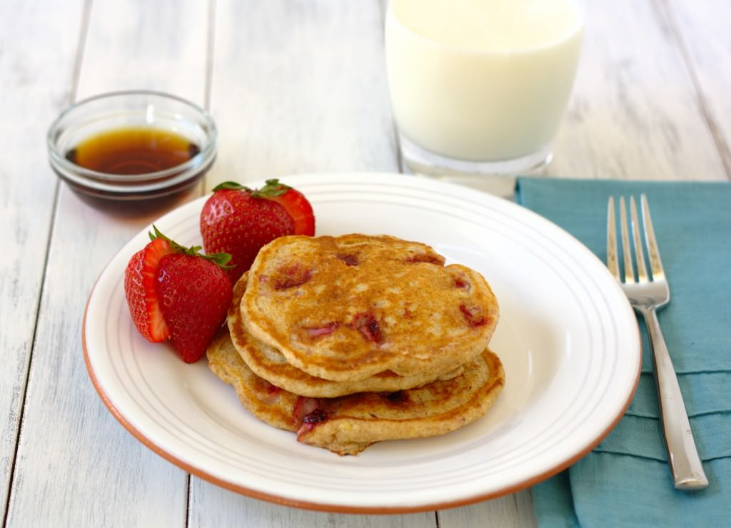 Whole-Wheat Strawberry Pancakes by Kristine's Kitchen