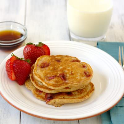 Whole-Wheat Strawberry Pancakes