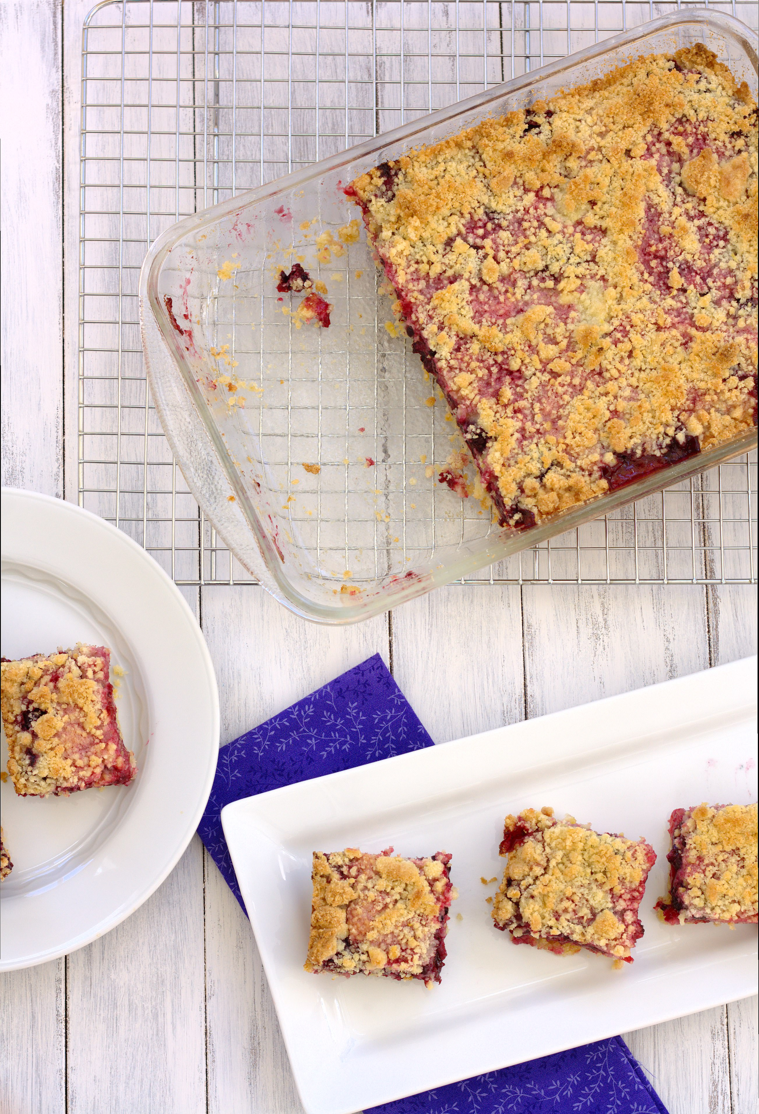 Blackberry Crumb Bars | Kristine's Kitchen