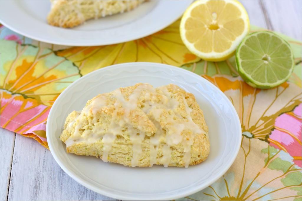 Citrus scones with a sweet lemon-lime glaze.   Kristine's Kitchen