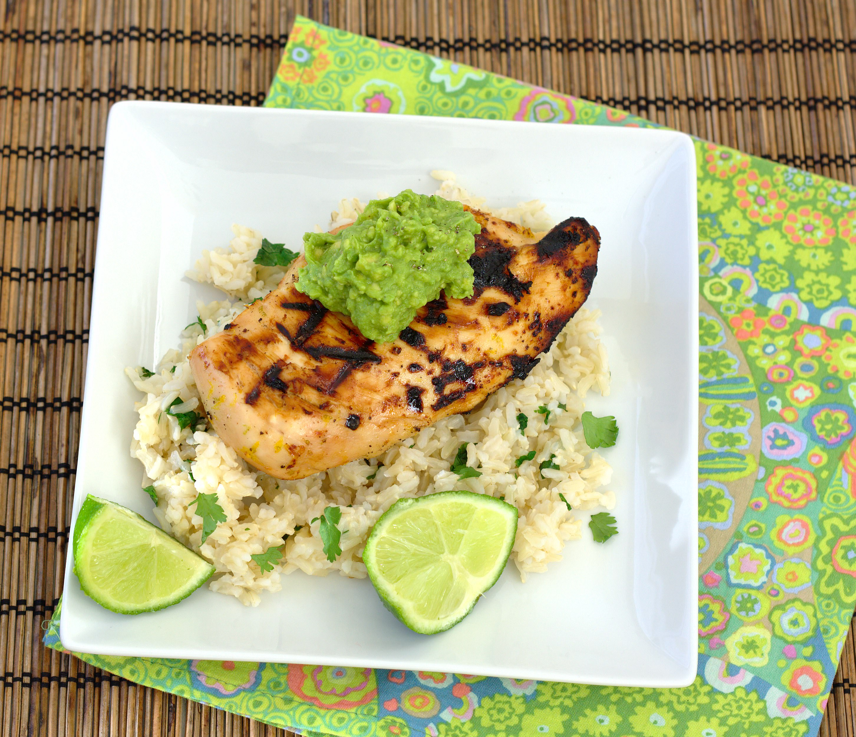 Margarita Chicken with Cilantro-Lime Rice and Guacamole - Kristine's ...