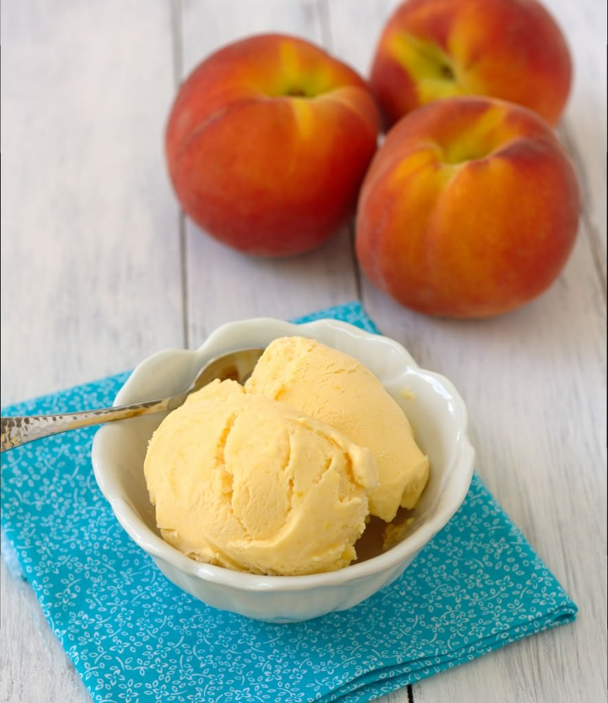 Peach Ice Cream by Kristine's Kitchen