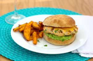Jalapeno Cheddar Chicken Burger~Kristine's Kitchen